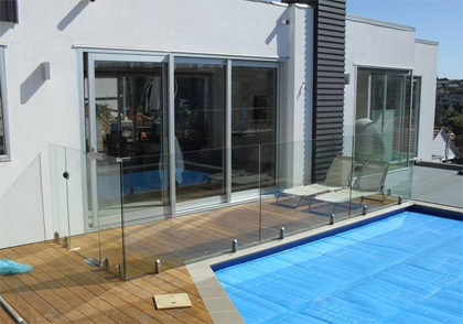 Glass pool fences auckland safety fencing north shore pukekohe - Swimming pool maintenance auckland ...